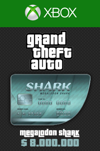 Megalodon Shark Card 8,000,000 USD