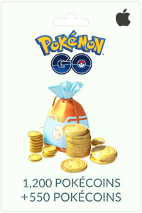 1200 + 550 PokéCoins - iPhone NL