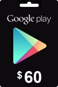 Google Play Gift Card 60 USD