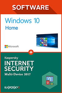 Windows 10 Home + Kaspersky 2017 1 PC 1 year