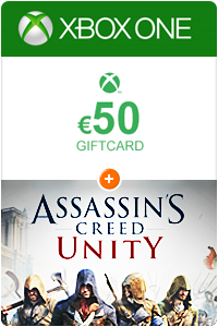 Xbox Giftcard 50 Euro + Assassins Creed Unity Xbox one