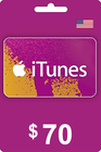 iTunes Gift Card 70 USD USA